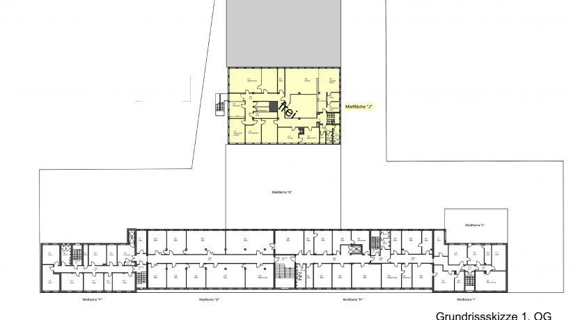 Grundrissskizze 1. Obergeschoss