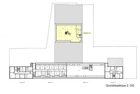 Grundrissskizze 2. Obergeschoss